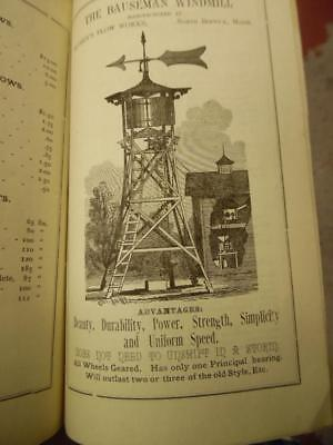 c.1885 Timothy Hussey Plow Works Farm Catalog w. Bauseman Windmil Berwick Maine