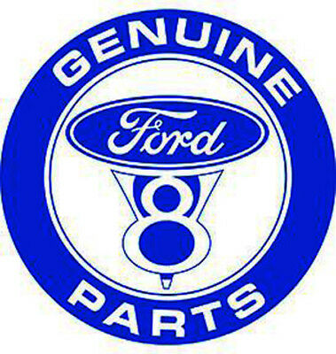 "Genuine Ford V8 Parts 12""  Round Metal Sign"