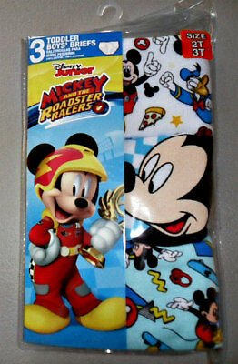 DISNEY Toddler Boys Mickey Mouse and Roadster Racers Briefs 3-Pack Size 2T/3T