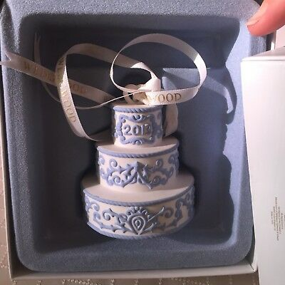 Wedgwood Our First Christmas Together Ornament 2013 Wedding Cake New in Gift Box