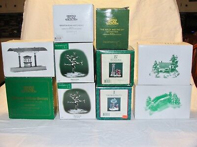Dept 56 Dickens Village - 10 Piece Lot of Accessories - Preowned EUC
