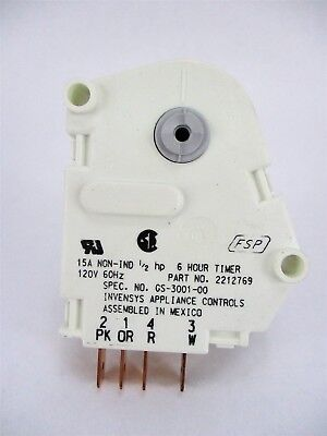 Whirlpool Refrigerator Defrost Timer 2212769 AP3133323 Kenmore Maytag whirlpool kenmore maytag refrigerator icemaker wire harness 628256