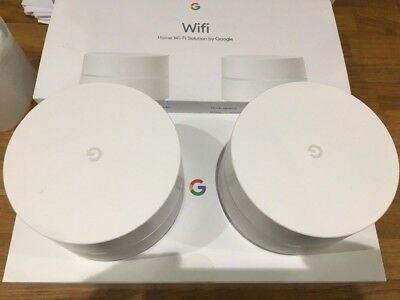 GOOGLE WiFi Whole Home System - Twin Pack untested returns 2