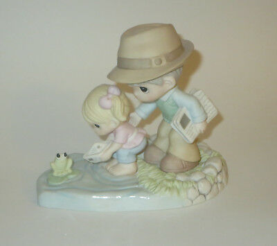Through Your Eyes The World I See Precious Moments Figurine Dad Girl Frog No Box