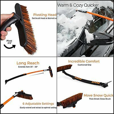 Specill Winter Snow Moover Extendable50 Car Brush and Ice Scraper with Foam Grip