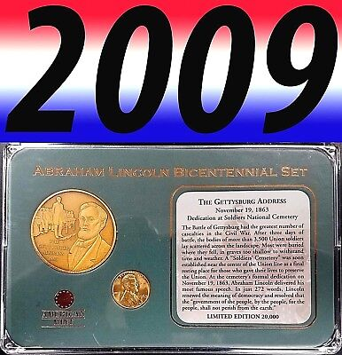 Abraham Lincoln Bicentennial Set, The Gettysburg Address Medal, American Mint