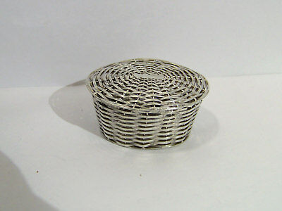 Los Ballesteros Taxco Mexico Sterling Basket Weave Trinket Small Box
