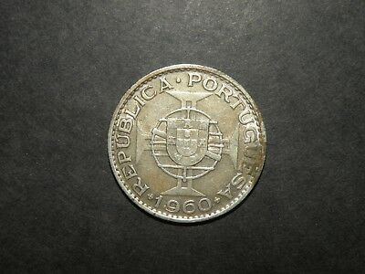 Mozambique Silver Coin Portugal Colonial 20 Escudos Vintage Africa 1960 Lot Port