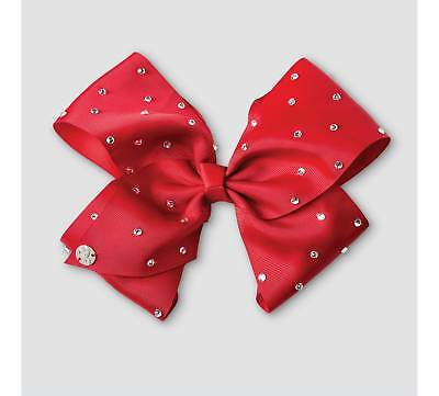 NWT JoJo Siwa Red Rhinestone Signature Large Hair Bow Christmas Gift!