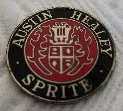 Vintage Austin Healey Sprite Medallion - Metal -- USED