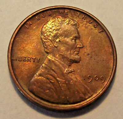 1909 Lincoln Wheat Cent AU (LOT X468)