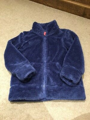 Girls MINI BODEN Zip Up Fleece Age 6-7 Years