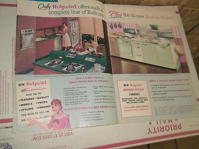 Hotpoint 1956 16 Page Ad With Appliances Full Line All Color