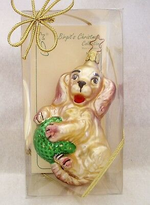 Brigit's Christmas Collection  Inge-Glas   Christmas Puppy  Old World Christmas