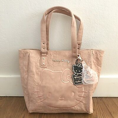 Hello Kitty x Loungefly Blush Embossed Face Satchel Purse Bag With Rose Gold NWT