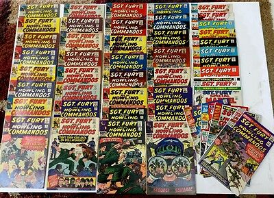 Sgt Fury and His Howling Commandos (46 comic lot)4-123, Ann.1-4! To VF 8.0