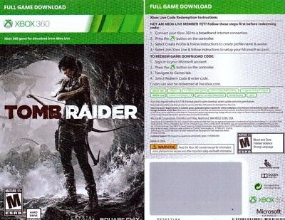 Tomb Raider (Microsoft Xbox 360, 2013) - Full Game Download