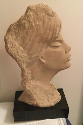 Austin Prod Signed Vintage 1986 SCULPTURE by FISHER Woman Mid Century Modern