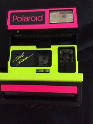Polaroid cool cam 600 neon pink and neon yellow perfect shape free shipping OBO