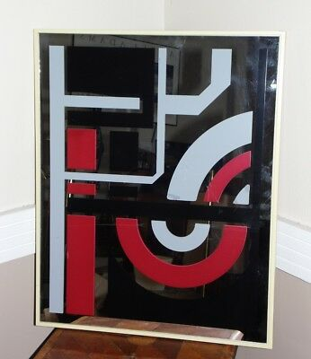 Vintage Mid Century Modern Abstract Mirror Sharon Art Concept Reliable Mfg. Co