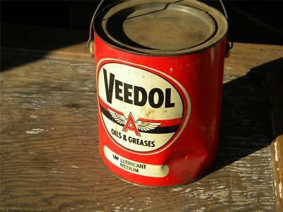 Vintage Gas & Oil Advertising Can~VEEDOL~Flying A~Oils & Greases~Lubricant~10 Lb
