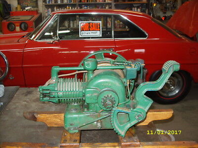Vintage Nelson Brothers Kick Start Engine, Maytag, Hit And Miss Motor