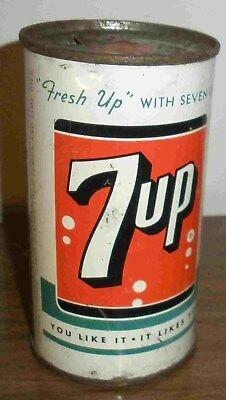 Rare Original Top & Bottom 7Up Anchorage Alaska Soda Can Of The Big Delta Plant