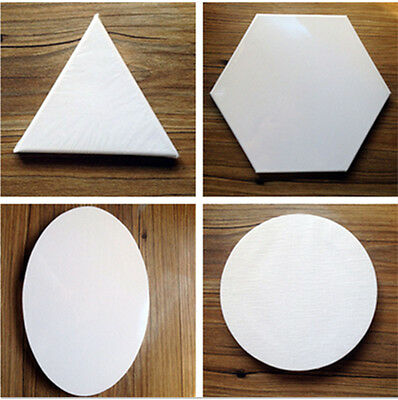 Custom Size Round/Oval/Triangle/Hexagon Shaped Stretched Blank Canvas