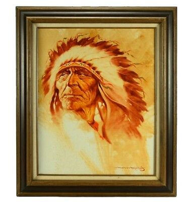 Vintage Collection Of Fine Gallery Paintings Native American Southwest Sepia