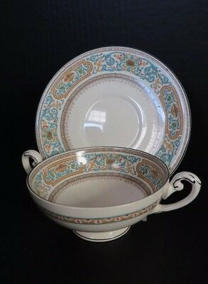 MYOTT Staffordshire THE CROYDON pattern Soup & Saucer 5567A Porcelain