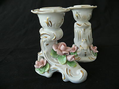 Beautiful Pair of ALKA Kaiser Dresden Candle Holders