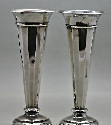 Beautiful  English Birmingham Sterling Silver Candle Holders c1800s Hallmarked