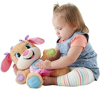 Learn Fisher Price Laugh Smart Stages Toy Plush Sis Puppy Interactive New Baby