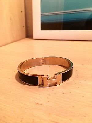HERMÈS Black Clic H Bracelet Genuine Authentic