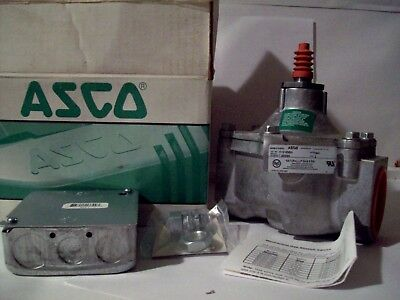 New in box, ASCO Red Hat 2' Gas Valve, cable released.