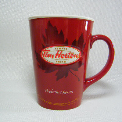 Tim Hortons N 11 Welcome Home Maple Leaf Red Coffee Tea Mug Cup Limited Edition
