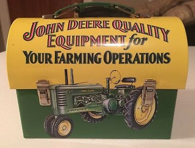 John Deere Metal Lunch Box ~Agriculture~Farming~Tractor~Advertising