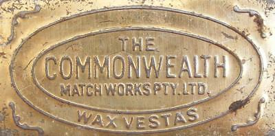 Vintage Commonwealth Wax Vestas Tin Match Box