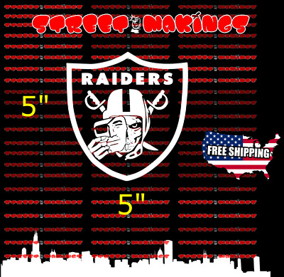 Nfl oakland raiders skull decal vinyl window sticker football car truck decal