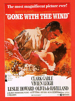 "Postkarte Clark Gable und Vivien Leigh ""GONE WITH THE WIND"", Vom Winde verweht"