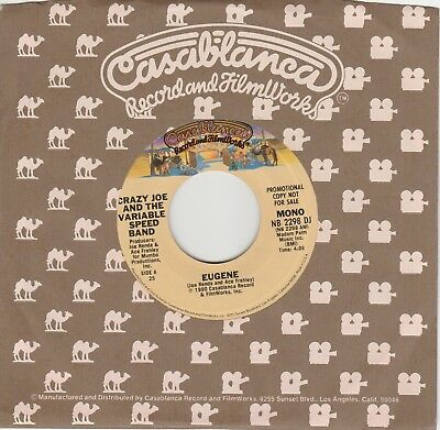 "7"" Crazy Joe and the variable speed band KISS Eugene Promo USA"