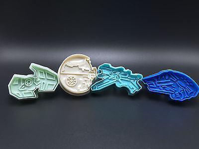 4pc Star Wars Space cookie Cutters Space Ship Death Star X-Wing Tue Faicon