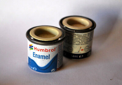 2 PZ HUMBROL SMALTO COD.103 CREMA ENAMEL PAINT 14 ml