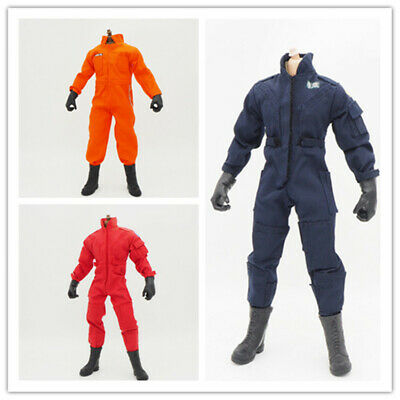 1/6 Scale Coveralls Uniforms Work Jacket Coat 12in Lots Of 3 Fit HT B005 Body