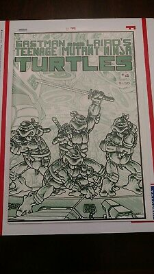 Teenage Mutant Ninja Turtles 4 Comic Eastman & Laird's  1985 #4