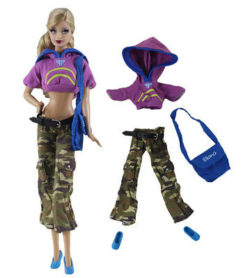 4in1 Fashion clothes/outfit Top+pants+shoes+bag For 11.5in.Doll