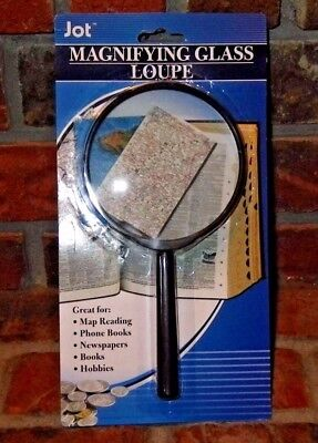 """Magnifying Glass 3 1/2"""" - Great for Hobbies, Crafts, and Collecting"""