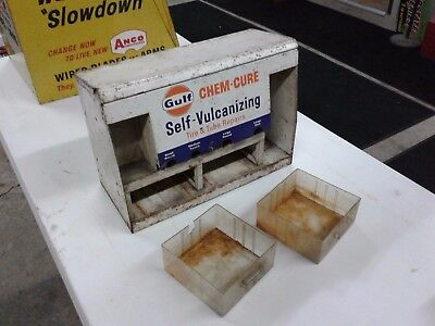 Vintage GULF CHEM-CURE SELF VULCANIZING TIRE REPAIRS DISPLAY