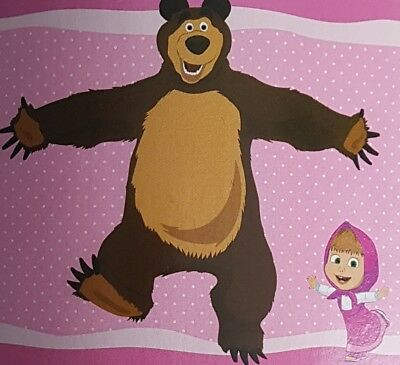 Masha and the Bear polar fleece blanket 120 x 150 cm - free postage, cheapest!!