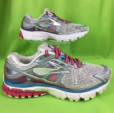387a3f58c10 BROOKS RAVENNA VI 6 running shoe White Raspberry Paradise Green . women s 6
